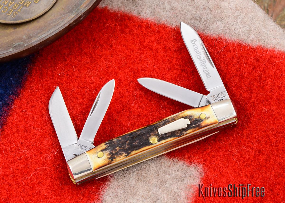 Schatt & Morgan: Keystone Series - Mini-Congress - 4-Blade - Stag - #18 primary image