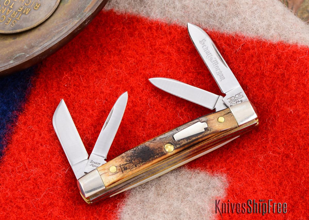 Schatt & Morgan: Keystone Series - Mini-Congress - 4-Blade - Stag - #21 primary image