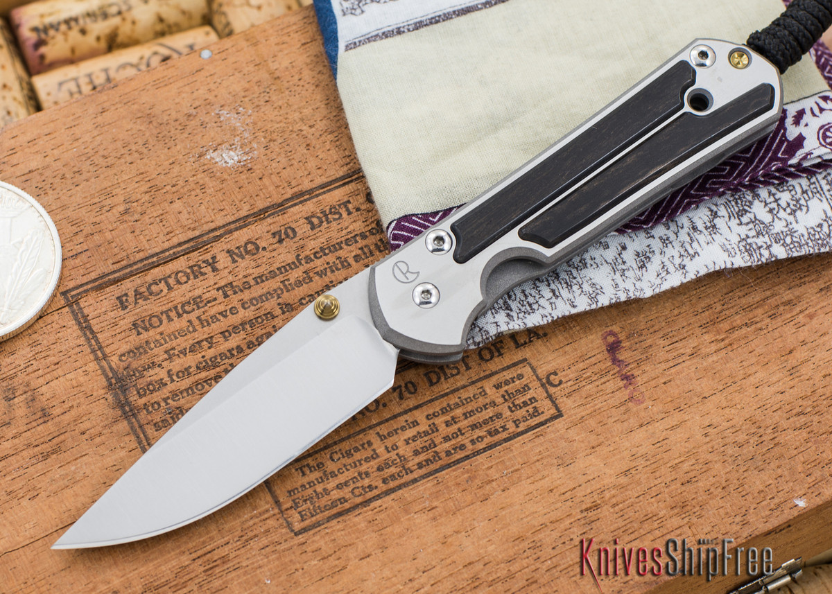 Chris Reeve Knives: Small Sebenza 21 - Gabon Ebony Inlay - 030306 primary image