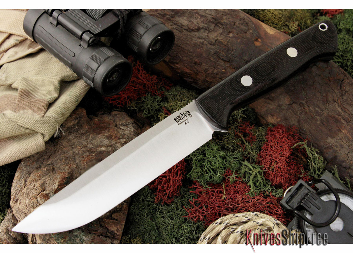 Bark River Knives: Bravo 1.5 - Field Version - Black Canvas Micarta primary image