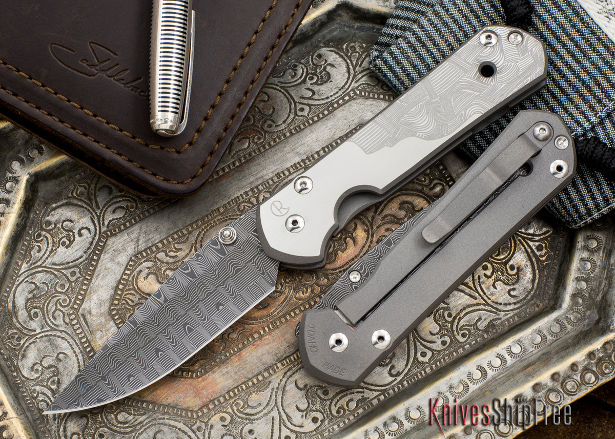 Chris Reeve Knives: Large Sebenza 21 - CGG Basketweave Damascus primary image