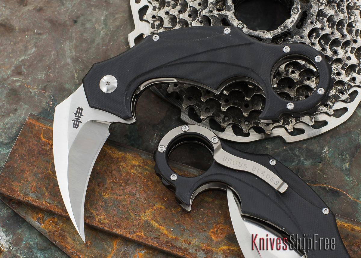 Brous Blades: Enforcer - Black G-10 - Satin Finish primary image