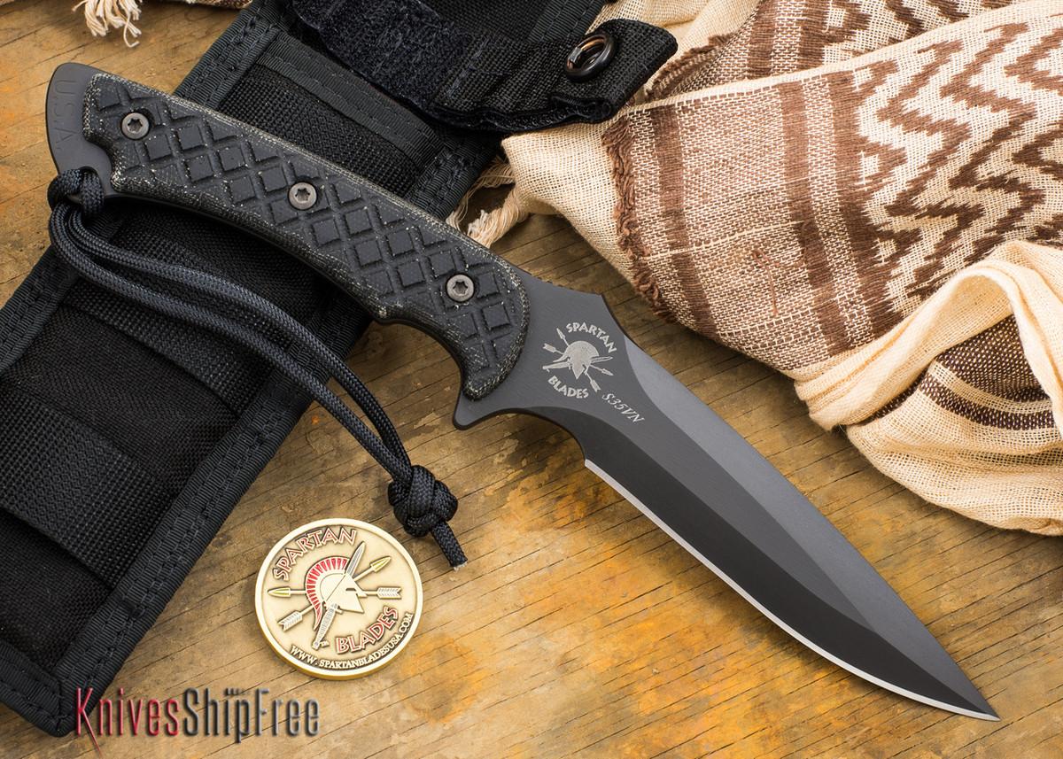 Spartan Blades: Ares - Black Blade - Black Canvas Micarta primary image