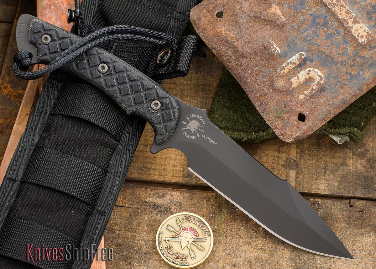 Spartan Blades: Horkos - Black Blade - Black Canvas Micarta primary image