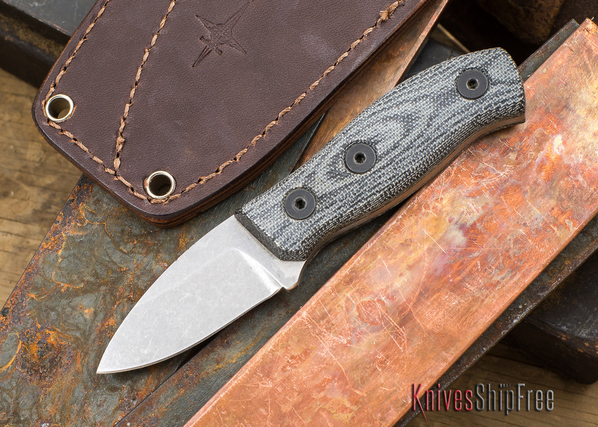 Fiddleback Forge: Production Runt - Black Canvas Micarta - S35VN primary image