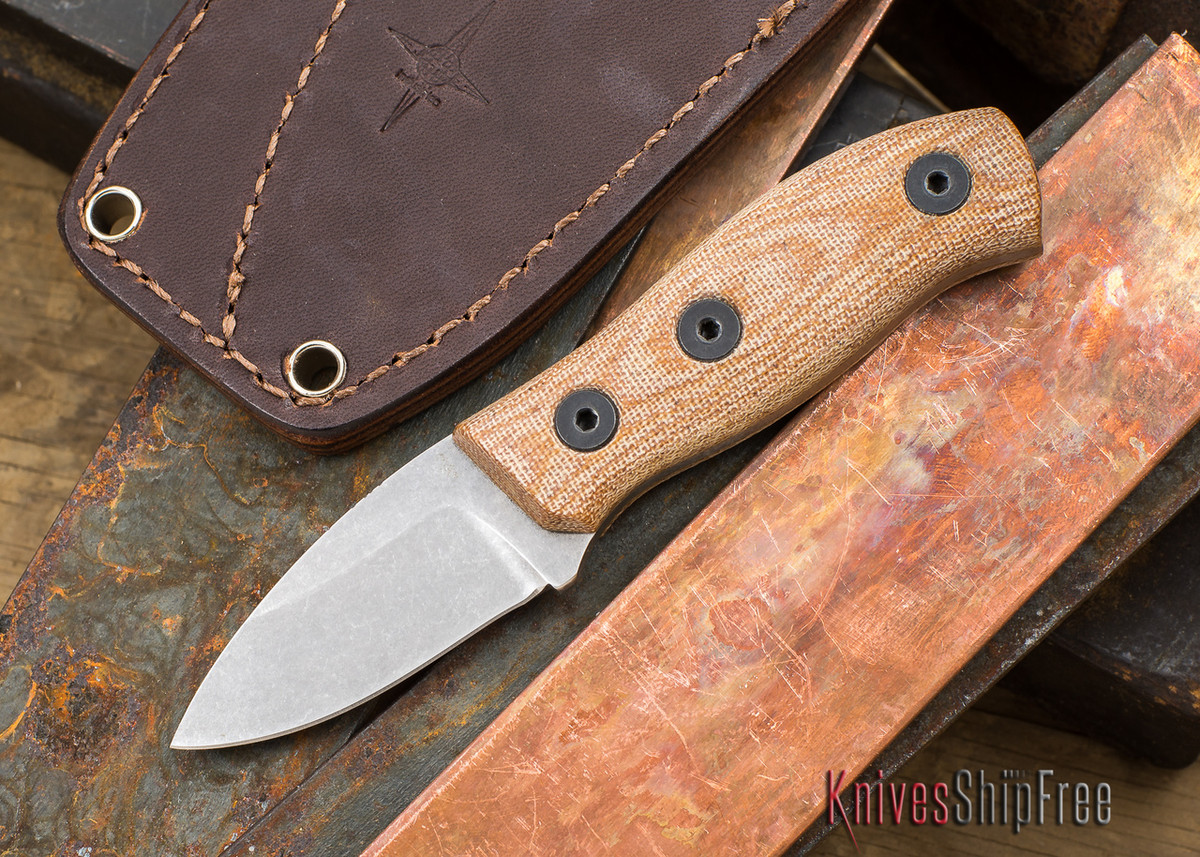 Fiddleback Forge: Production Runt - Natural Canvas Micarta - S35VN primary image