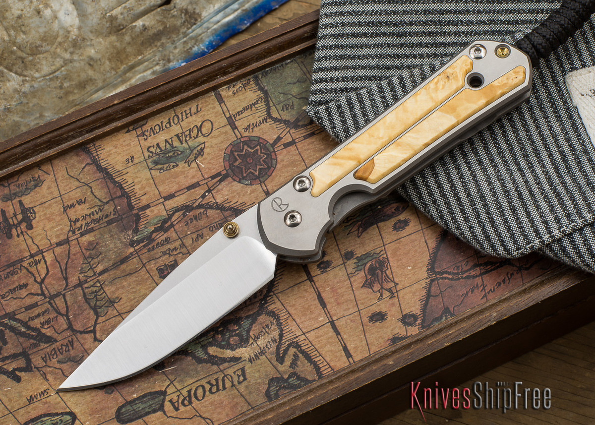 Chris Reeve Knives: Small Sebenza 21 - Box Elder Burl - 050507 primary image