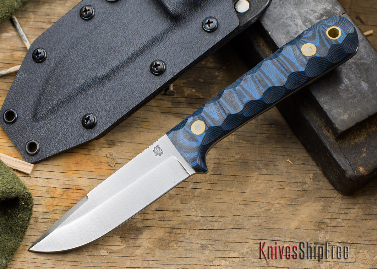 L.T. Wright Knives: ProTac - Blue & Black Mountain Micarta - Saber Ground - D-2 Tool Steel - Kydex Sheath - LT28EA06 primary image