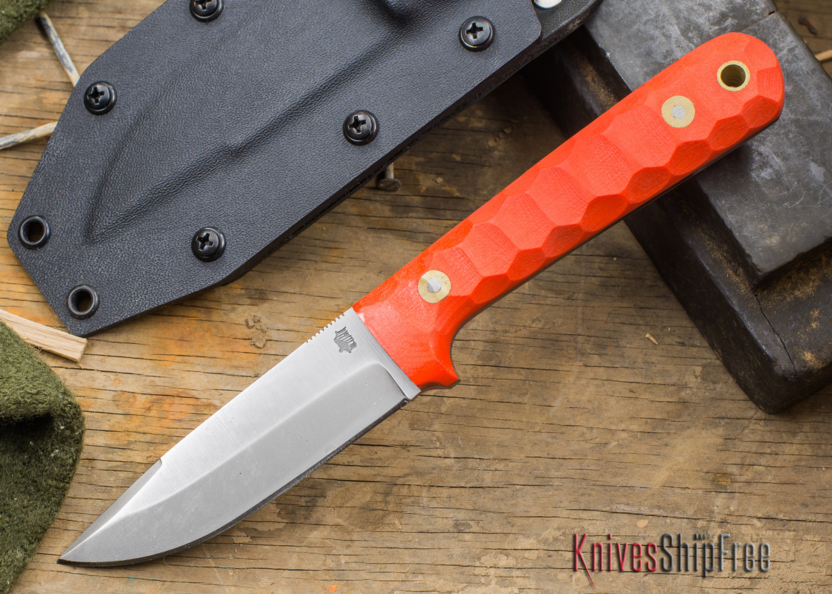 L.T. Wright Knives: ProTac - Orange Mountain Micarta - Saber Ground - D-2 Tool Steel - Kydex Sheath - LT28EA07 primary image