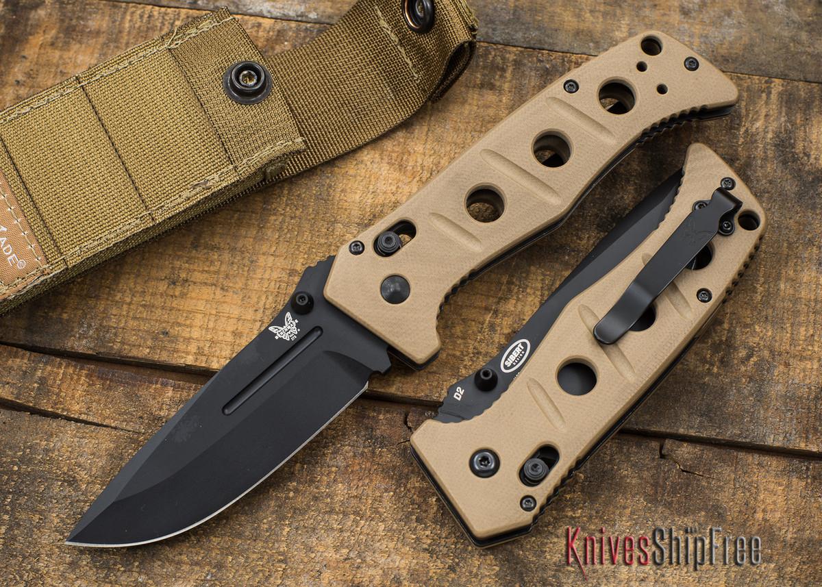 Benchmade Knives: 275BKSN Adamas - Black Blade - Tan G-10 primary image