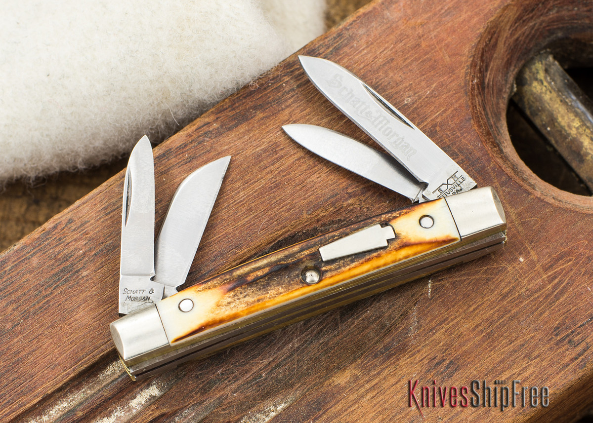 Schatt & Morgan: Keystone Series - Mini-Congress - 4-Blade - Stag - 070907 primary image