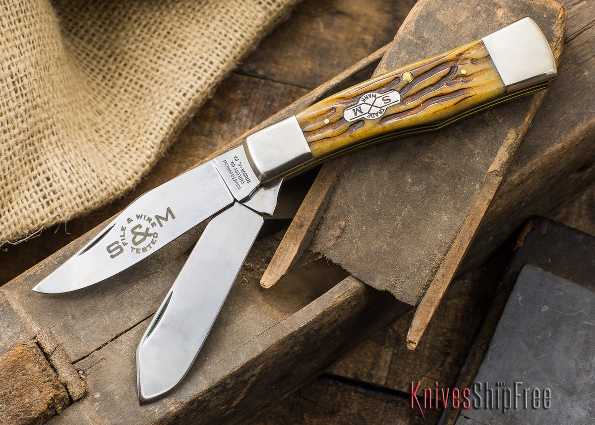 Schatt & Morgan: File & Wire - Gunstock Jack - Bone Handles primary image