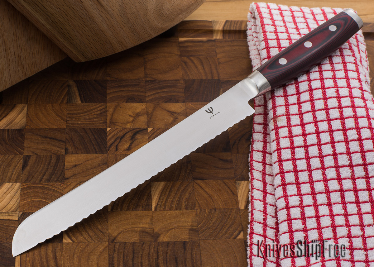 "Yaxell: Red Dragon - 9"" Bread Knife primary image"