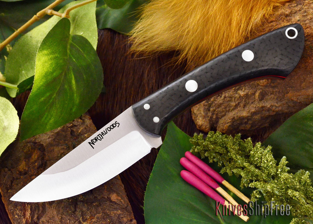 Northwoods Knives: Iron River - Black Carbon Fiber - Red Liner primary image