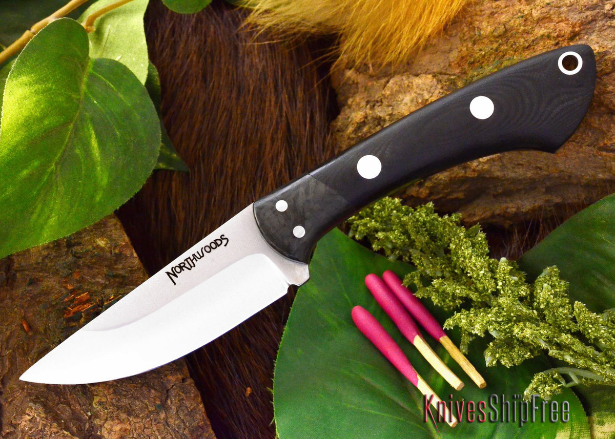 Northwoods Knives: Iron River - Black G-10 - Matte primary image
