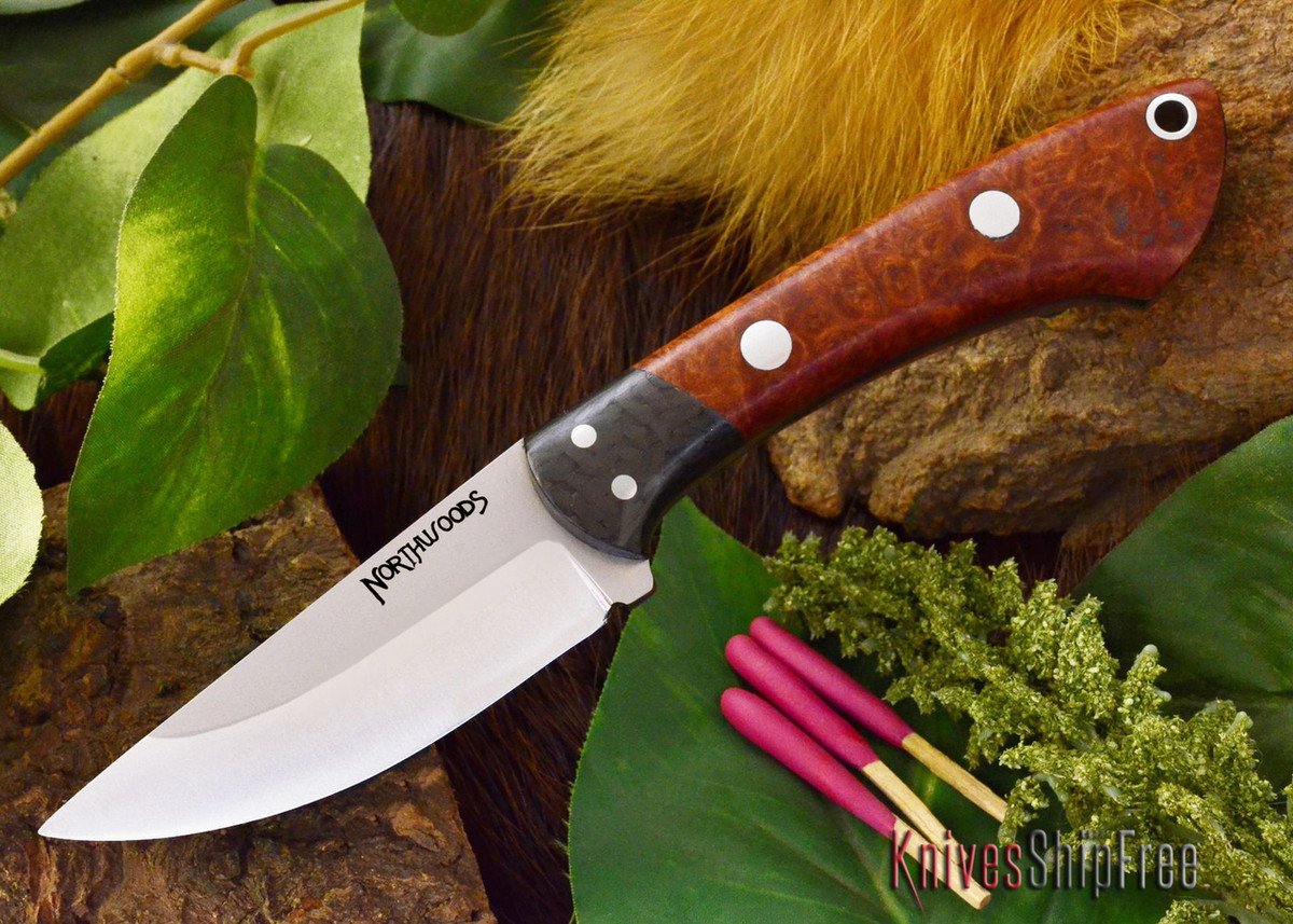 Northwoods Knives: Iron River - Amboynia Burl primary image