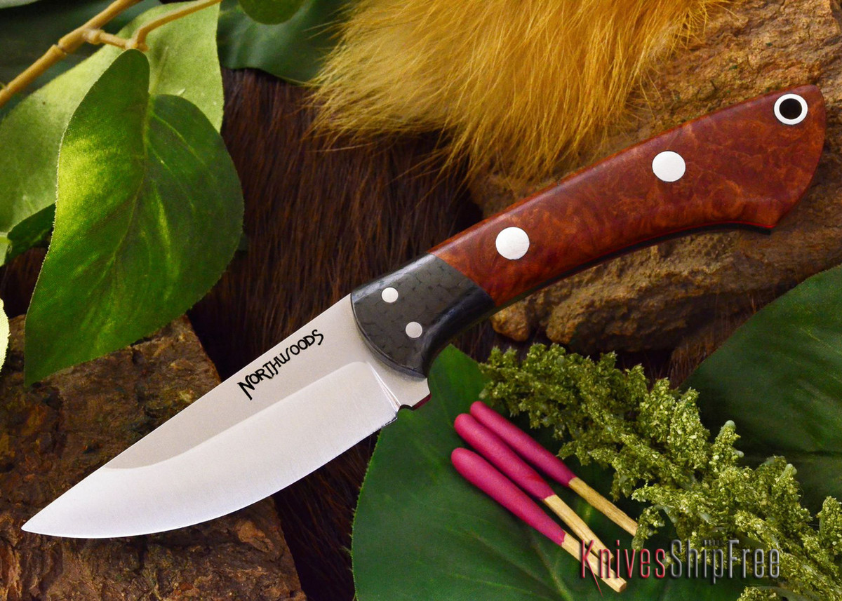 Northwoods Knives: Iron River - Amboynia Burl - Red Liner primary image