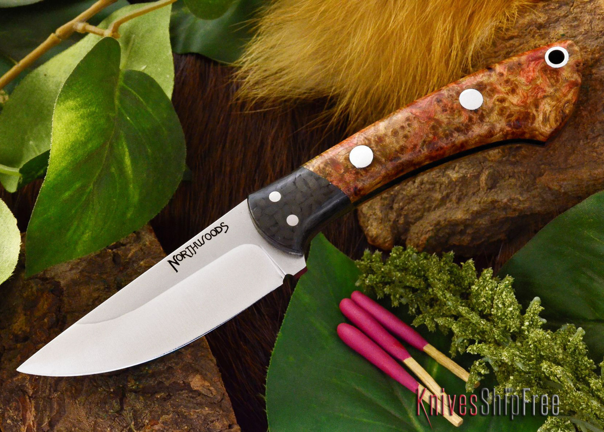 Northwoods Knives: Iron River - Black Ash Burl - #1 primary image