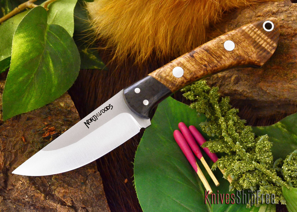 Northwoods Knives: Iron River - Black Ash Burl - #2 primary image