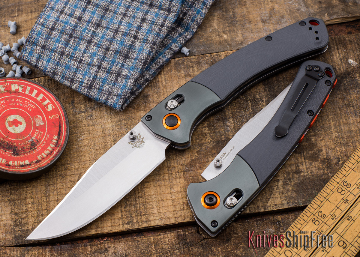 Benchmade Knives: 15080-1 - HUNT - Crooked River - Gray G-10 - CPM S30V primary image
