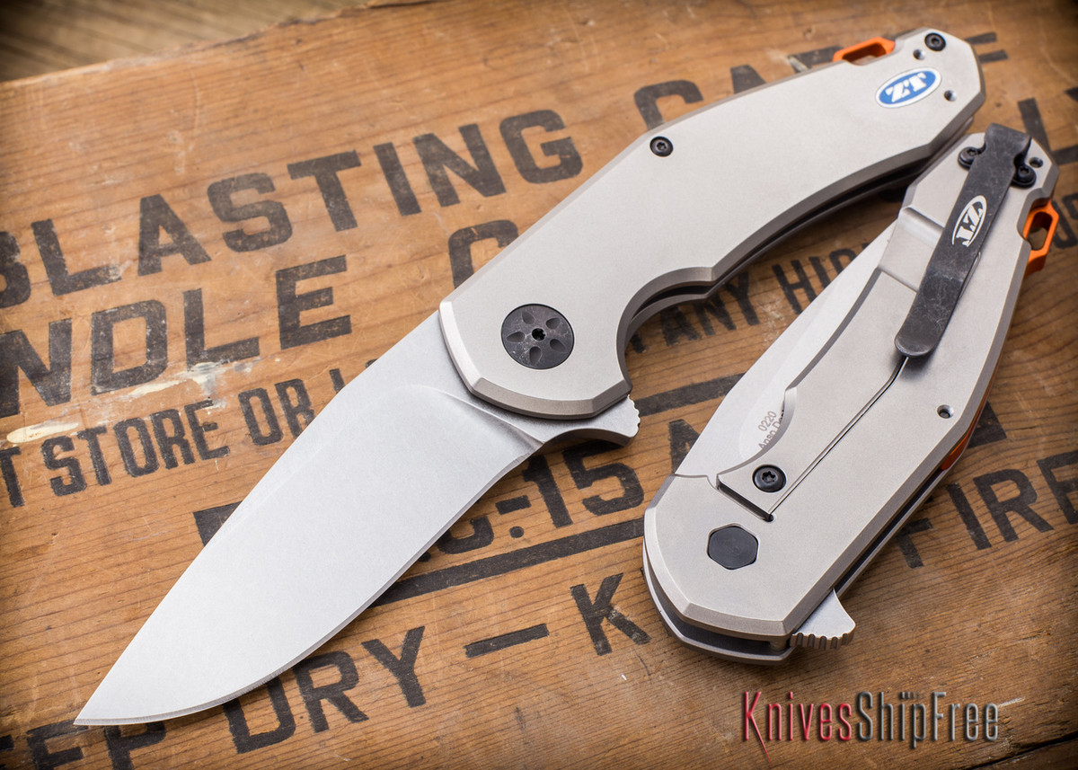 Zero Tolerance: ZT0220 - Anso Design - CPM S35VN - Framelock primary image