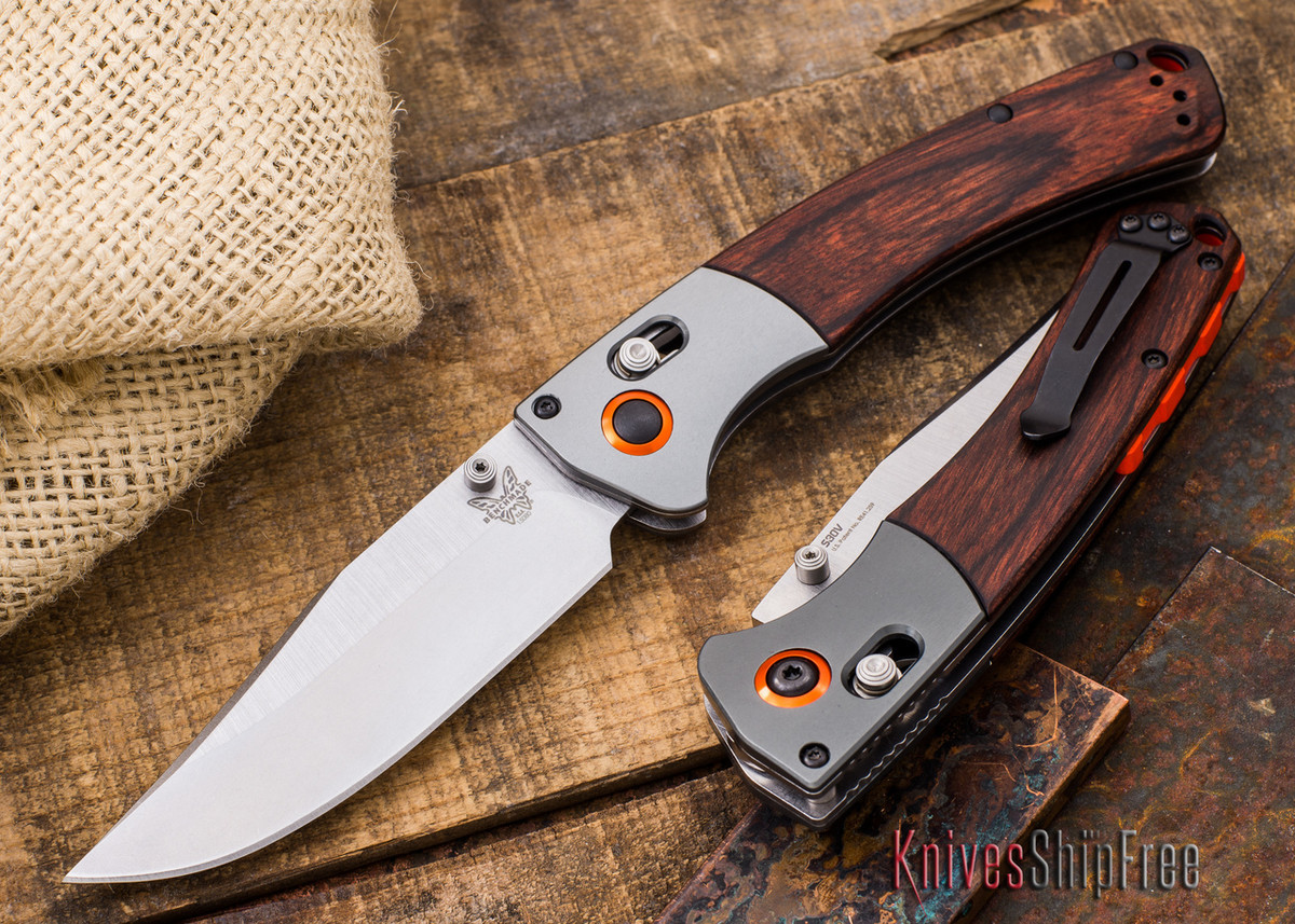 Benchmade Knives: 15080-2 - HUNT - Crooked River - Stabilized Hardwood - CPM S30V