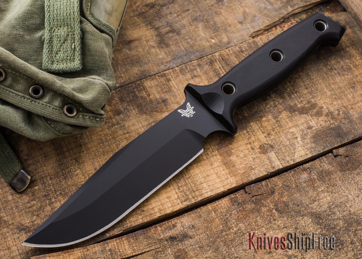 Benchmade Knives: 119BK Arvensis - Black Blade - Black G-10 Handles primary image