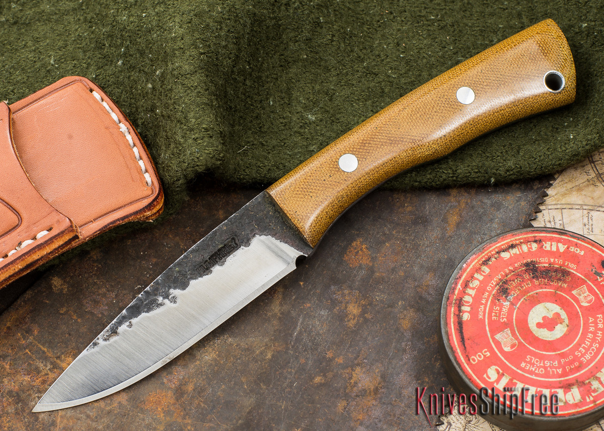 Lon Humphrey: Custom Sterling - Natural Canvas Micarta