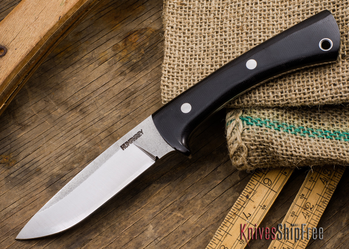 Lon Humphrey Knives: Custom Scout - CPM 154 - Black Canvas Micarta primary image