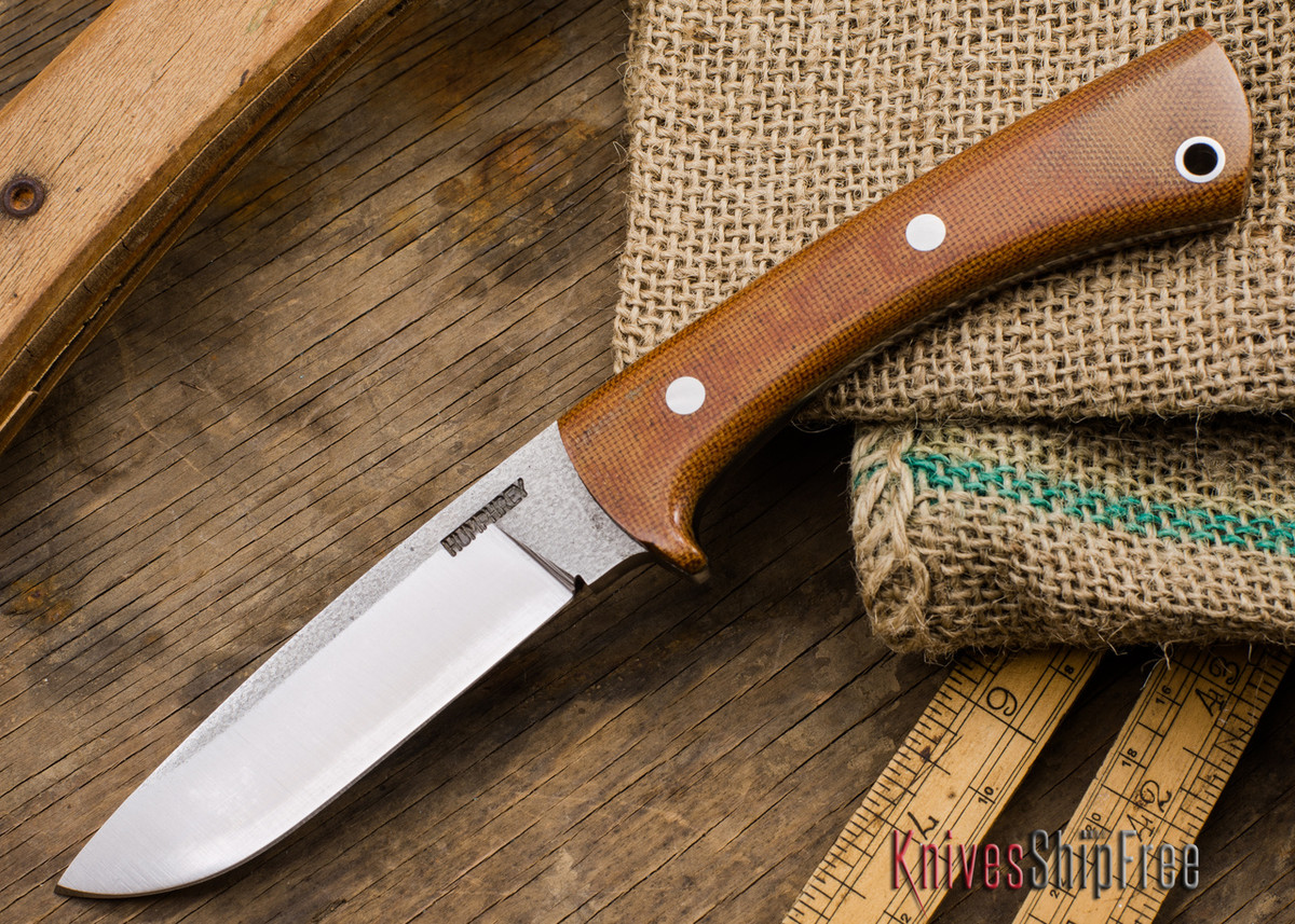 Lon Humphrey Knives: Custom Scout - CPM 154 - Natural Canvas Micarta primary image