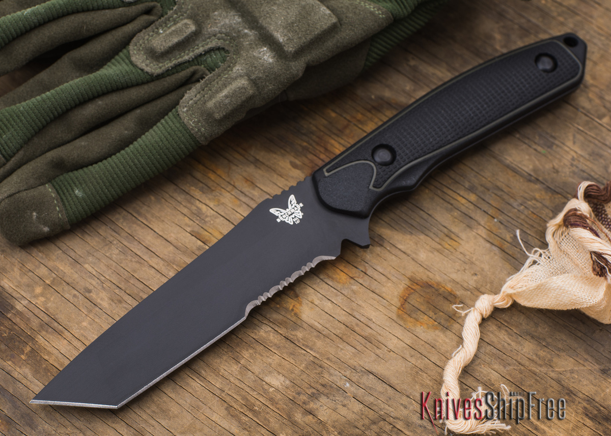 Benchmade Knives: 167SBK Protagonist - Tanto - Partially Serrated Black Blade primary image