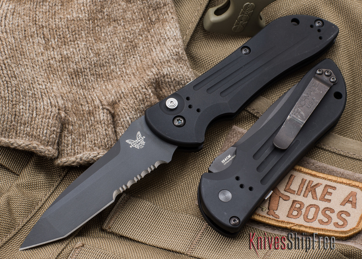 Benchmade Knives: 9101SBK Auto Stryker - Serrated Black Blade