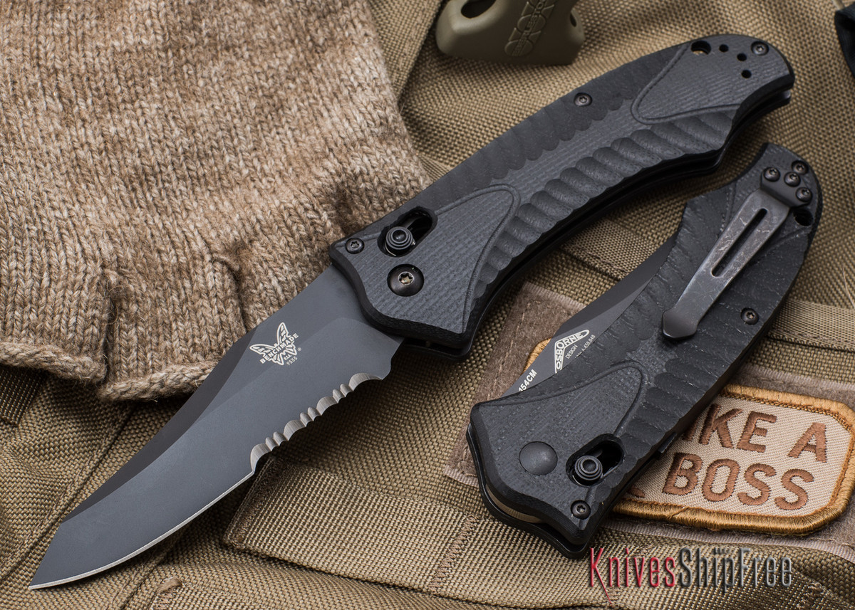 Benchmade Knives: 9555SBK Osborne Rift AUTO - Serrated Black Blade primary image