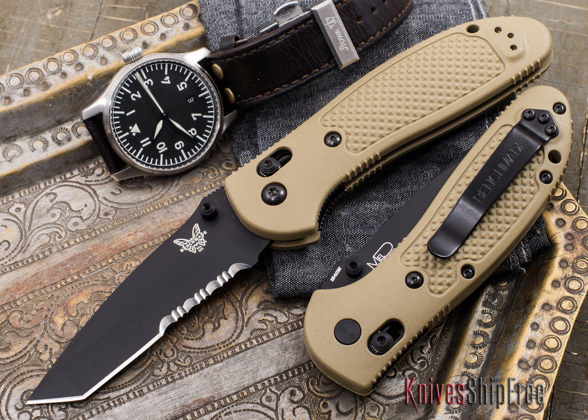 Benchmade Knives: 553SBKSN Griptilian - Tanto - Partially Serrated Black Blade primary image