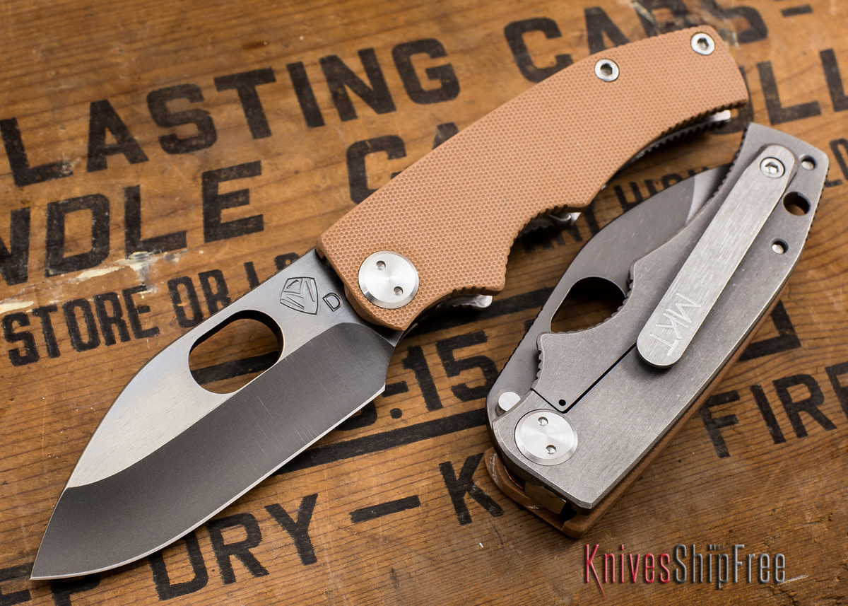 Medford Knife & Tool: 187 RMP - Coyote G-10 / Ti - Gray PVD primary image