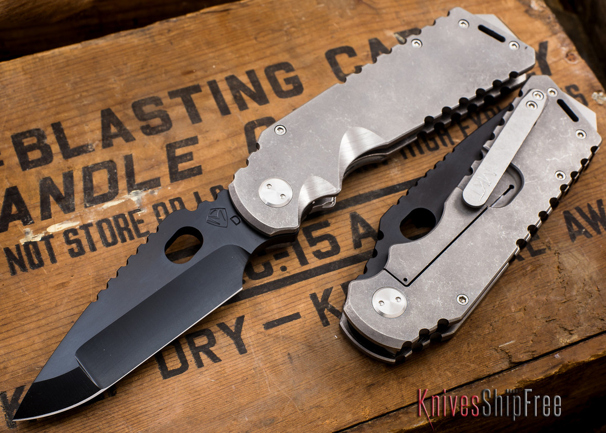 Medford Knife & Tool: Arktika - Tumbled Titanium - Black PVD primary image