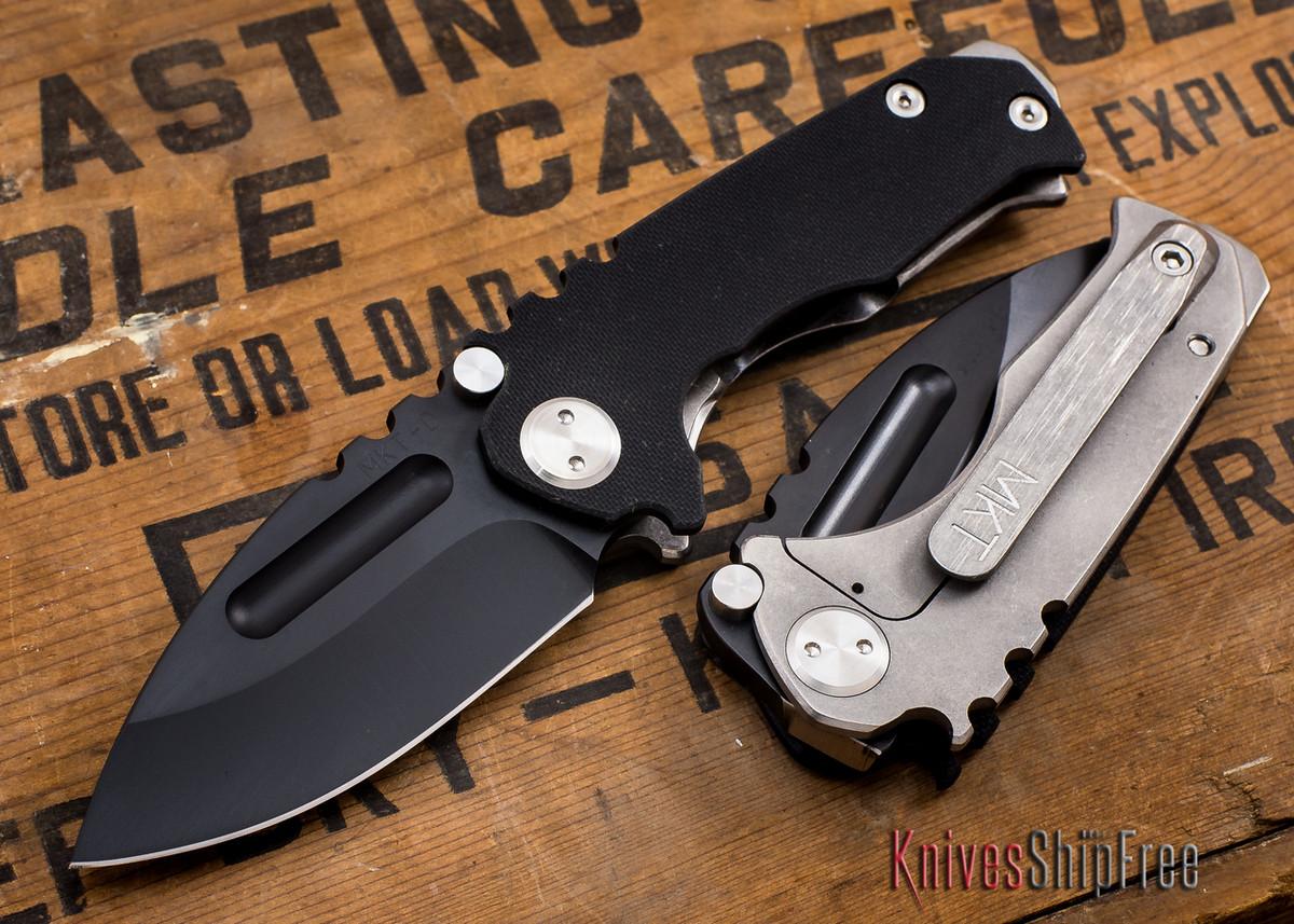 Medford Knife & Tool: Micro Praetorian G - Black G-10 / Ti - Black PVD primary image