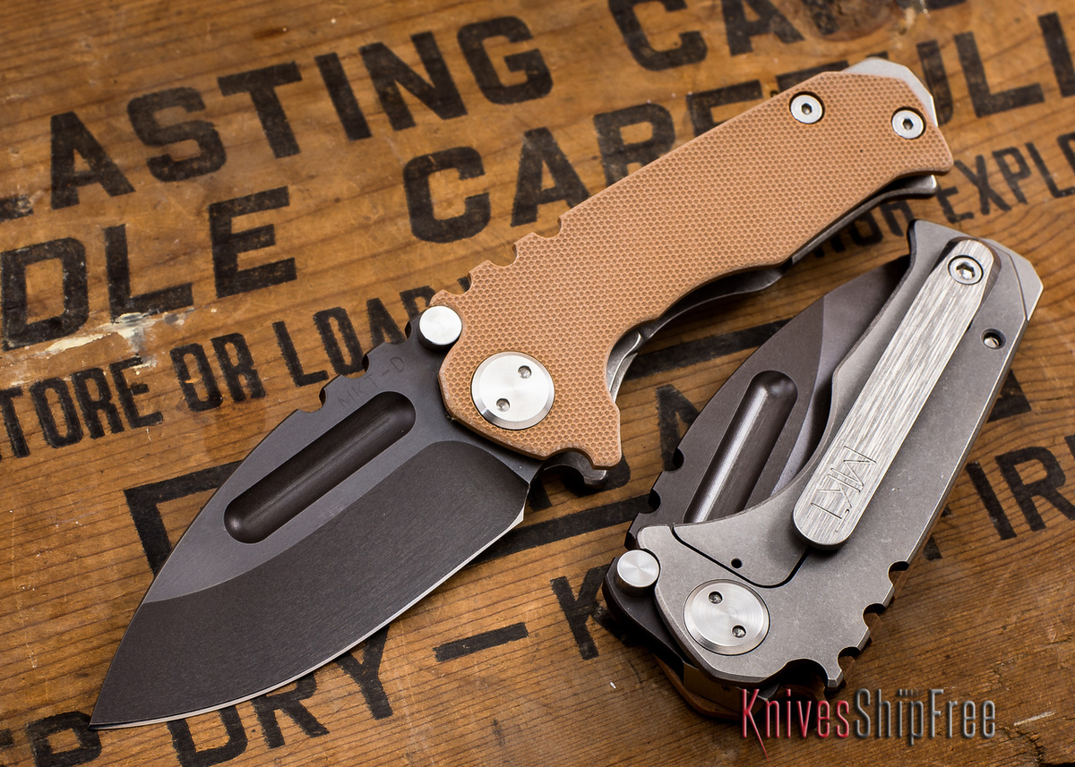 Medford Knife & Tool: Micro Praetorian G - Coyote G-10 / Ti - Black PVD primary image