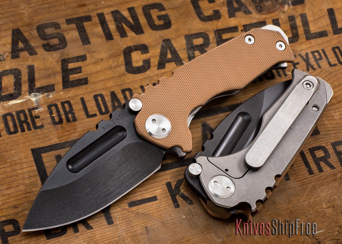 Medford Knife & Tool: Micro Praetorian G - Coyote G-10 / Ti - Tumbled Oxide Finish primary image
