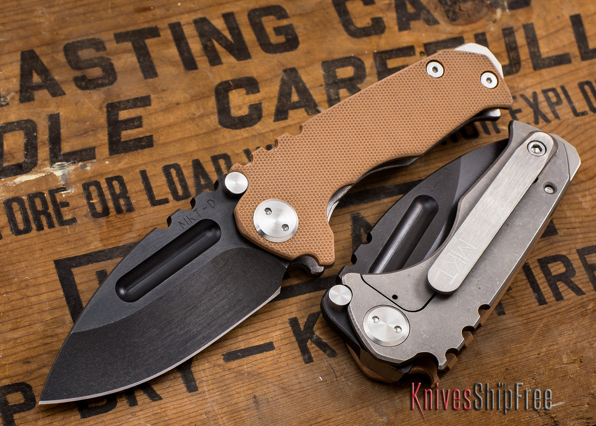 Medford Knife & Tool: Micro Praetorian G - Coyote G-10 / Ti - Tumbled Oxide Finish primary image