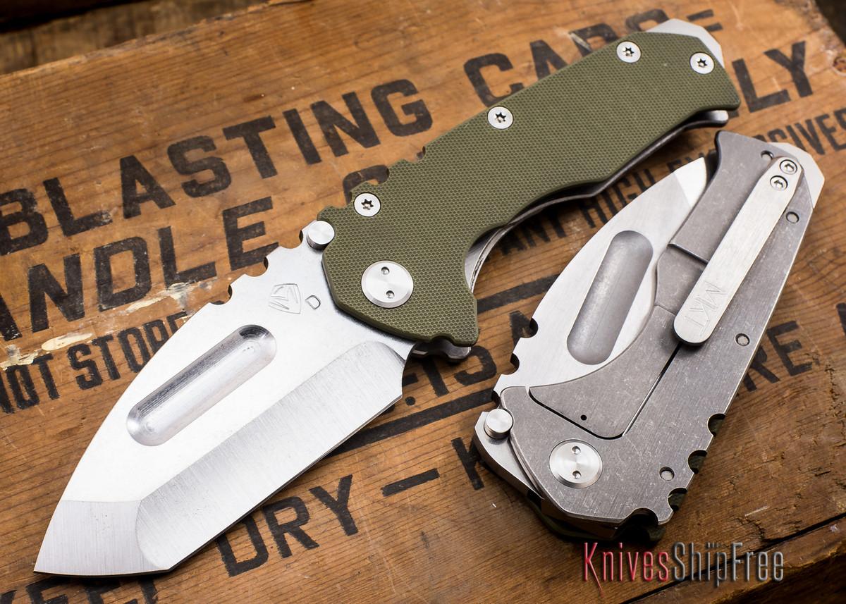Medford Knife & Tool: Praetorian G - OD Green G-10 / Ti - Tumbled Finish primary image
