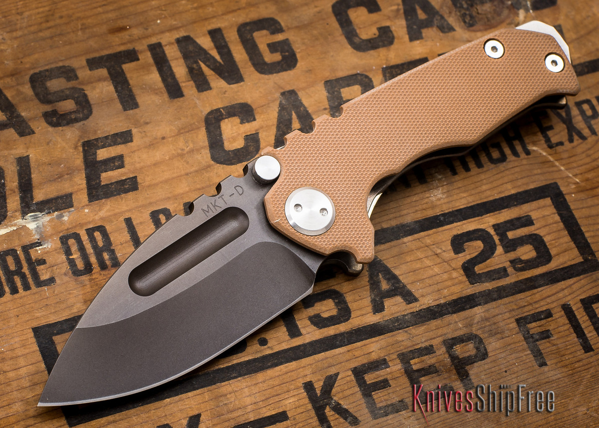 Medford Knife & Tool: Micro Praetorian G - Coyote G-10 / Flamed Ti - Tumbled Oxide Finish - 062901 primary image