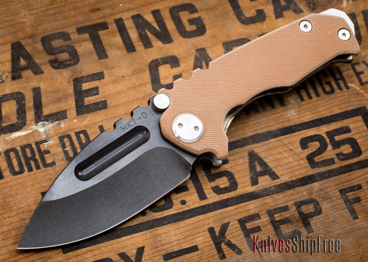 Medford Knife & Tool: Micro Praetorian G - Coyote G-10 / Flamed Ti - Tumbled Oxide Finish - 062904 primary image