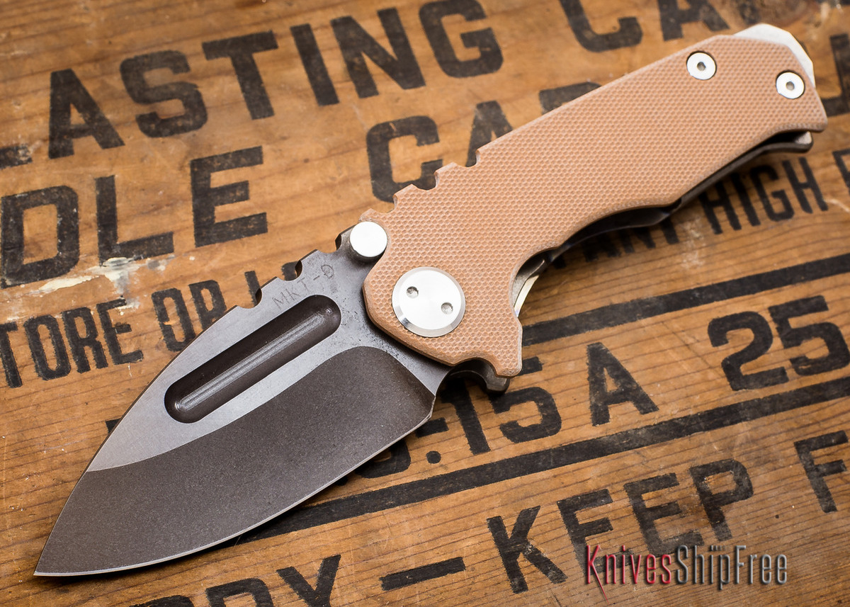 Medford Knife & Tool: Micro Praetorian G - Coyote G-10 / Flamed Ti - Tumbled Oxide Finish - 062906 primary image
