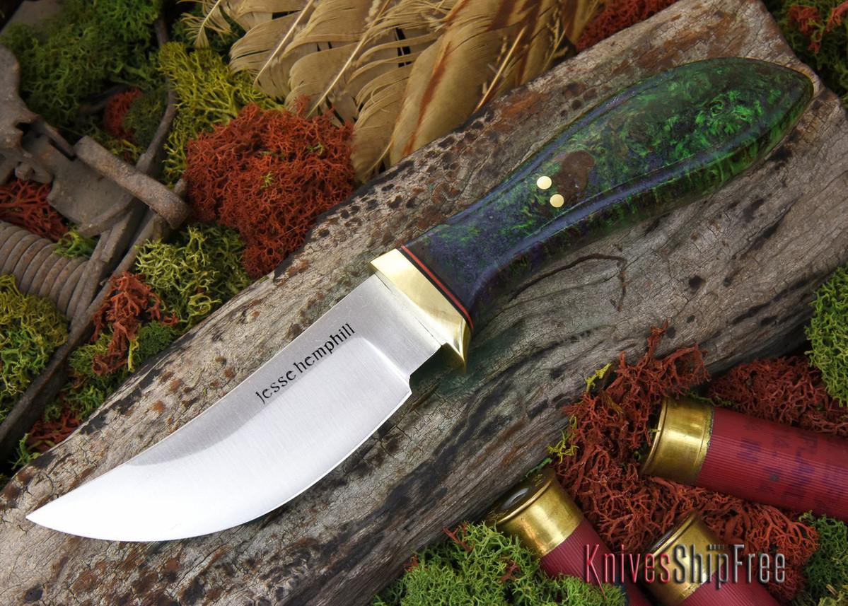 Jesse Hemphill Knives: DeKalb Series - High Falls - Blue & Green Elder primary image