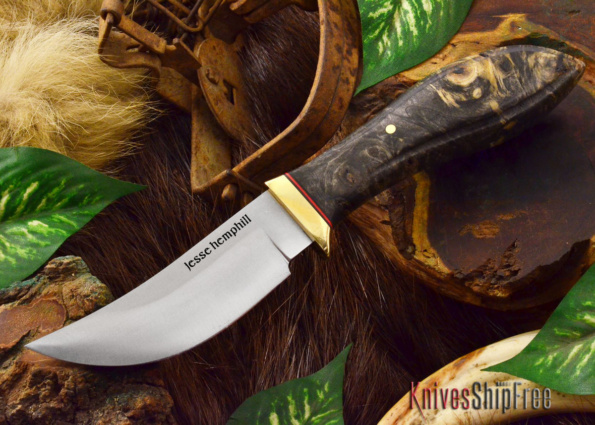 Jesse Hemphill Knives: DeKalb Series - High Falls - California Buckeye Burl primary image