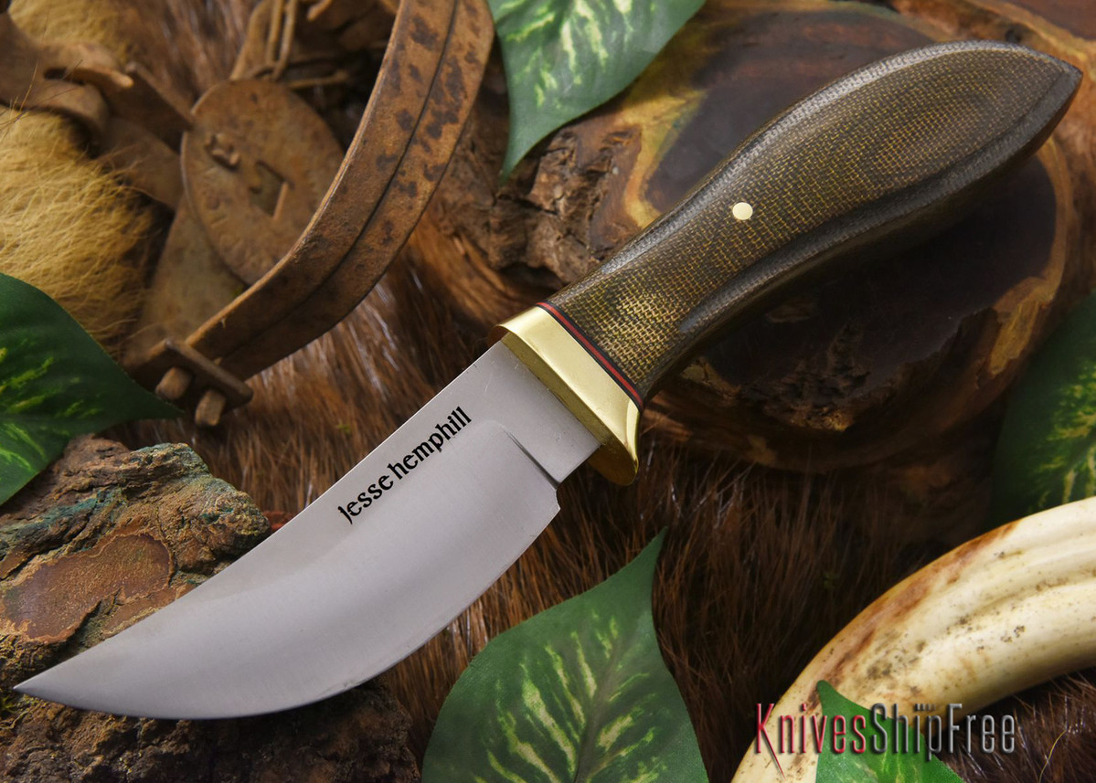 Jesse Hemphill Knives: DeKalb Series - High Falls - Green Canvas Micarta primary image