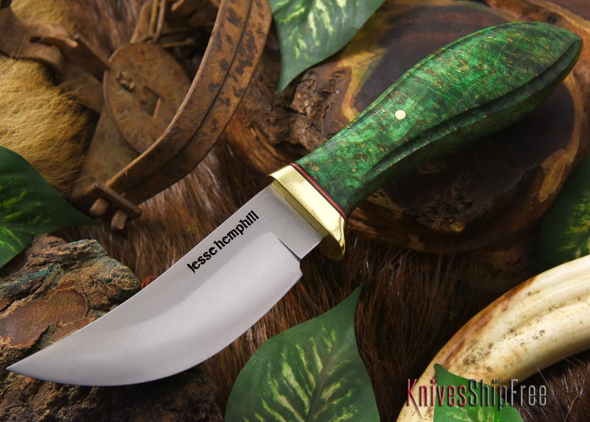 Jesse Hemphill Knives: DeKalb Series - High Falls - Green Elder Burl - #2 primary image
