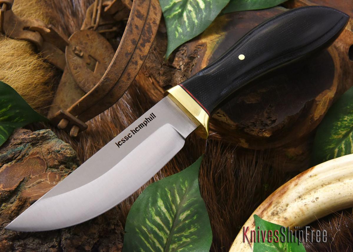 Jesse Hemphill Knives: DeKalb Series - Point Rock - Black Canvas Micarta primary image