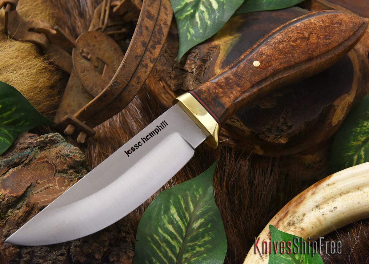 Jesse Hemphill Knives: DeKalb Series - Point Rock - Brown Elder Burl primary image